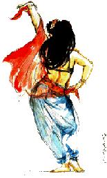 Aces club arlequin danse orientale - Danseuse orientale dessin ...