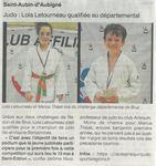 OF- Lola Letourneau qualifiée au départemental