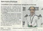 Une médaille de bronze pour la jeune judokate