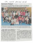 OF-32 filles ont découvert le handball