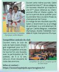 Judo : 2 médailles régionales pour les benjamins & Compétition amicale du club